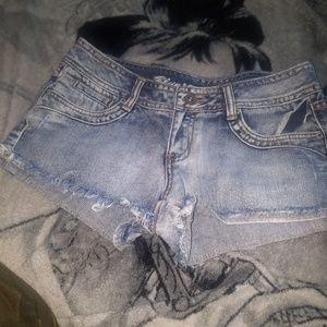 Blue asphlat  shorts
